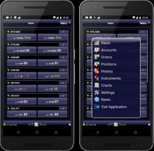 Торговая платформа ActDroid - Мобильная платформа торговли для Android